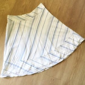 Banana Republic Linen Blend Striped Skirt